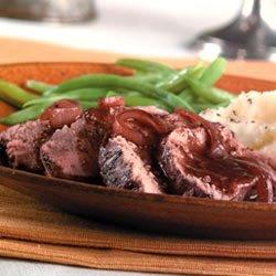 Burgundy Pork Tenderloin recipe