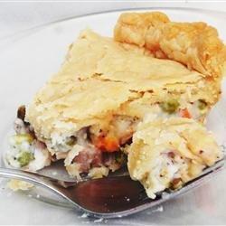 Dad's Leftover Turkey Pot Pie recipe