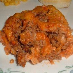 Spanish Rice and Beef Casserole