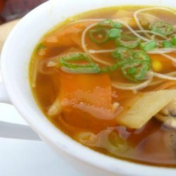 Hot and Sour Vegetable Rice Noodle Soup