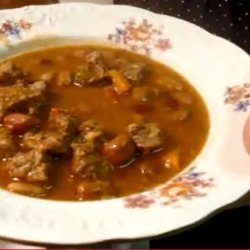 Bab Leves (Hungarian Bean Soup)