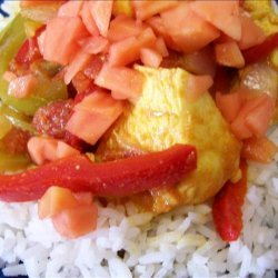 Chicken, Peppers & Rice Caribbean Style