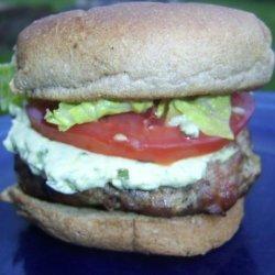 Bacon Turkey Burger With Avocado Dressing-Rachael Ray