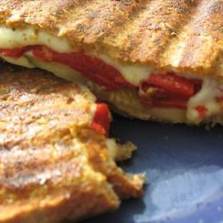 Pesto-Crusted Grilled Cheese recipe