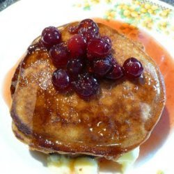 Gingerbread Pancakes With Cranberry-Maple Syrup