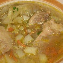 Aguado De Gallina or Chicken Rice Soup