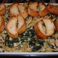 Chicken & Spinach Fettuccine Bake