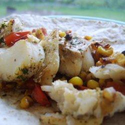 Roasted Corn Fish Tacos