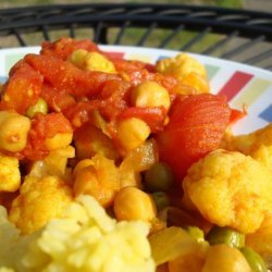 Curried Chick Peas and Mixed Vegetables recipe