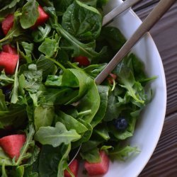 Watermelon, Blueberry and Spinach Salad With Feta