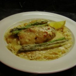 Lemon Asparagus Chicken Rolls With Capellini