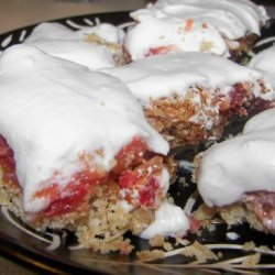 Chewy Coconut Cherry Bars