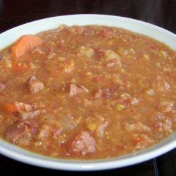 Lentil Soup With Ham and Bacon (Crock Pot, Slow Cooker)