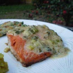 Salmon With Wine Mustard Sauce