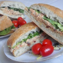 Salmon Pesto Focaccia Sandwiches