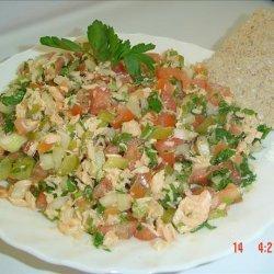 Low Fat Salmon Salad (Kosher- Pareve)