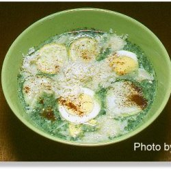 Hungarian Three Coin Spinach-Potato Soup