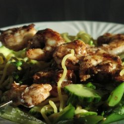 Barbecue Shrimp and Sugar Snap Pasta Salad - Clean Eating
