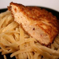 Fried Chicken Asiago W/ Artichoke Fettuccine