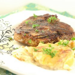 Barbecue-Rubbed Pork Chops