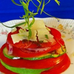 Stacked Tomatoes With Tarragon Infused Oil recipe
