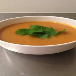 Curried Pumpkin and Sweet Potato Soup