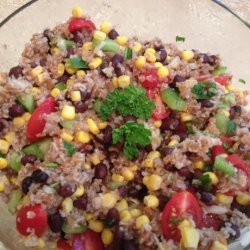 Black Bean and Bulgar Salad