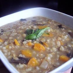 Mushroom Lentil Barley Stew recipe
