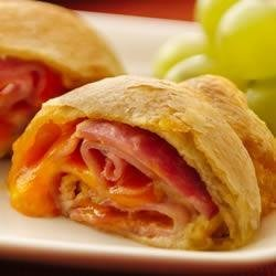 Ham and Cheese Crescent Roll-Ups