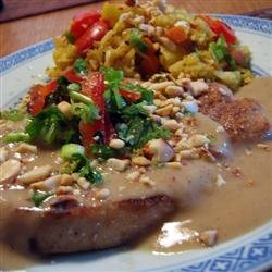 Thai Pork with Peanut Sauce