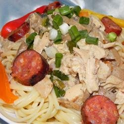 Andouille and Chicken Creole Pasta