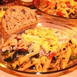 Pasta Primavera with Smoked Gouda