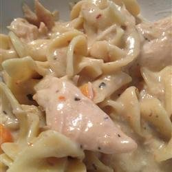 Slow Cooker Chicken Tetrazzini