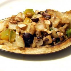 Acadia's Stuffed Eggplant