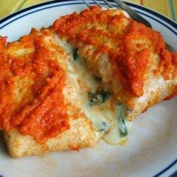 Spinach Cheese Burritos