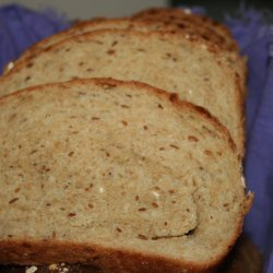 Honey Whole Wheat Bread With Oats and Flax Seed