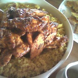 Grilled Moroccan Chicken With Curried Couscous