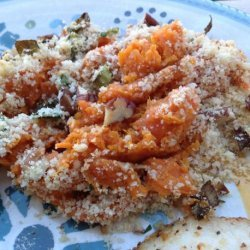 Sweet Potato Gratin With Pecan-Crumb Topping