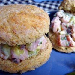 Ham Salad on Biscuits