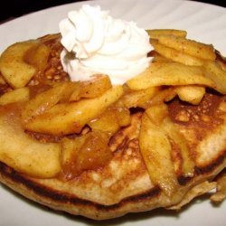 Spicy Apple Gingerbread Pancakes
