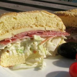 Salami, Havarti, and Cole Slaw  Sandwiches