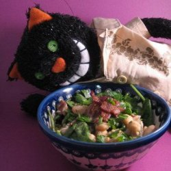 Chickpea, Bacon and Butter Bean Salad