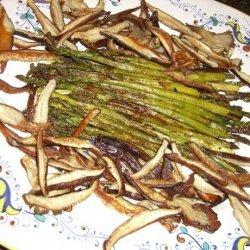 Roasted Asparagus & Shiitake Mushrooms