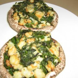 Shrimp, Spinach and Cheese Stuffed Mushrooms recipe