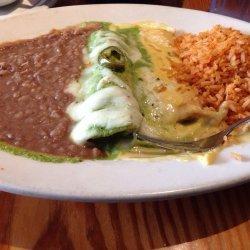 Chicken Enchiladas W/ Poblano Cream Sauce
