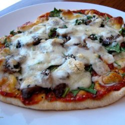 Meatless Pita Pizza