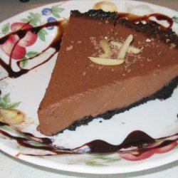No-bake Chocolate Two Cheese Pie