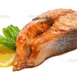 Grilled Basil Salmon Steaks
