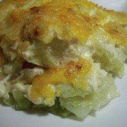 Cabbage Potato Chip Casserole