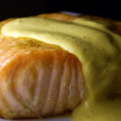 Baked Salmon With Creole Mustard Sauce